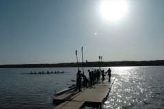A Westerville team prepares for a race during the Hoover Invitational Regatta in Westerville.